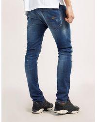Vivienne Westwood Anglomania Slim Fit Distressed Jeans - Blue