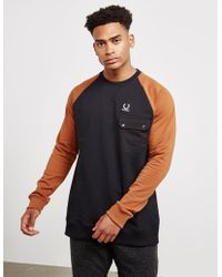 Fred Perry - Colourblock Sweat - Lyst