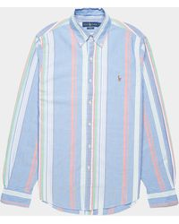 Polo Ralph Lauren Fun Mix Stripe Button Down Shirt - Blue