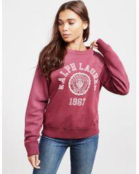 Polo Ralph Lauren - University Sweatshirt Red - Lyst