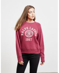 Polo Ralph Lauren - Womens College Sweatshirt Red - Lyst