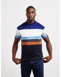 Z Zegna Blue Polo In Blue With Logo