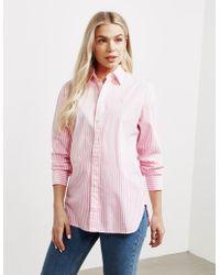 Polo Ralph Lauren Ellen Stripe Long Sleeve Shirt Pink