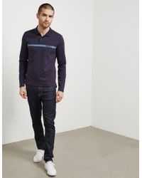 CALVIN KLEIN 205W39NYC - Mens Band Long Sleeve Polo Shirt Navy Blue - Lyst