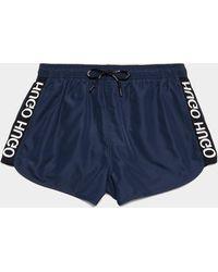 HUGO Samoa Tape Swim Shorts Blue