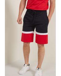 Tezenis Pantalones Cortos de Algodón con Bandas en el Bajo - Negro