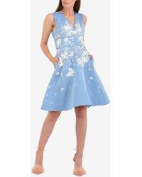 Prabal Gurung Embellished Sleeveless Skater Dress Wrtwus_us 4 - Blue
