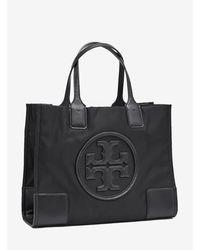 Tory Burch Ella Mini Tote Bag In Nylon - Black