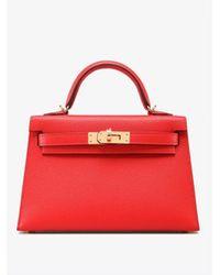 Hermès Mini Kelly 20 Ii Top Handle Bag In Epsom Leather Onesize - Red