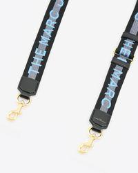 Marc Jacobs The Logo Thin Nylon Webbing Strap - Blue