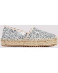 Car Shoe Glittered Espadrilles Eu 37 - Metallic