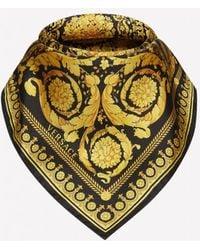 Versace Barocco-print Silk Scarf - Black