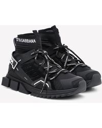 Dolce & Gabbana Sorrento High-top Sneakers With Logo - Black