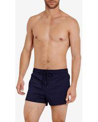 Vilebrequin Man Solid Drawstring Swim Shorts - Blue