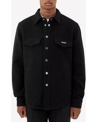 Axel Arigato Tait Wool-blend Overshirt S - Black