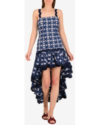 Alexis Krishna Embroidered High-low Dress - Blue