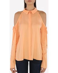 Cushnie et Ochs Cold-shoulder Blouse - Orange