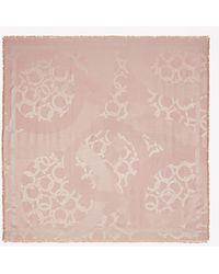Ferragamo Gancini Silk & Wool Jacquard Shawl - Pink