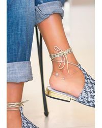 Kismet by Milka Teardrop With Diamond Anklet In 14-karat Onesize - Multicolour