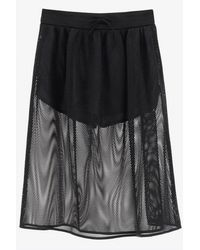 Dior Technical Mesh Midi Skirt Wrtwfr_fr 38 - Black