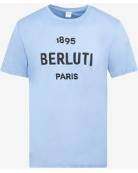 Berluti Logo Print T-shirt - Blue