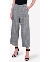 Bimba Y Lola Price Of Wales Check Wide-leg Pants - Grey