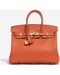Hermès Birkin 25 In Terre Battue Swift - Orange