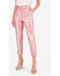 Dolce & Gabbana High-waist Jacquard Pants - Pink