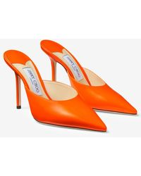 Jimmy Choo Rav 100 Patent Pump - Orange