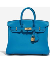 Hermès Birkin 25 In Blue Frida Swift Leather
