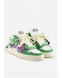 Off-White c/o Virgil Abloh Off Court Low Sneakers - Green