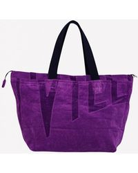 Vilebrequin Large Barney Terry Cloth Beach Bag - Purple