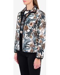 Ferragamo Valzer Print Reversible Puffer Jacket - Blue
