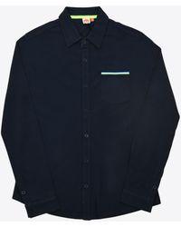 Sundek Jazz Cotton Blend Shirt - Blue