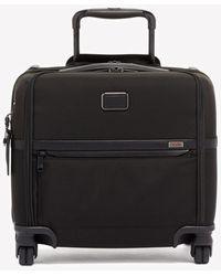 Tumi Alpha Compact 4-wheeled Briefcase - Black
