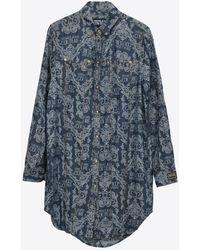 Versace Jeans Couture - Baroque Print Shirt Dress Uk 10 - Lyst