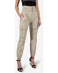 Dolce & Gabbana Cotton High-waist Cargo Pants - Natural
