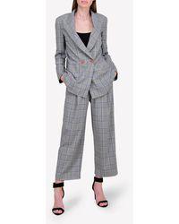 Bimba Y Lola Price Of Wales Check Wide-leg Pants Wrtwfr_fr 38 - Grey