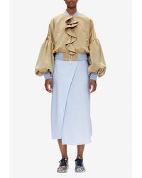 Stine Goya Octavia Satin Wrap Skirt S - Blue