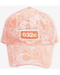 032c Logo-embroidered Printed Baseball Cap Onesize - Pink