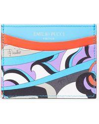 Emilio Pucci Elleboro Print Cardholder - Blue
