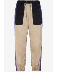 Sacai Multi-paneled Track Trousers In Nylon M - Natural