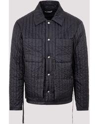 Craig Green Drawstring Waist Quilted Worker Jacket - Black