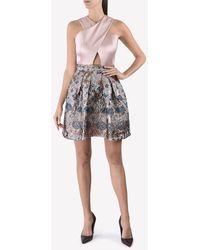 Temperley London Crossover Jacquard Dress - Multicolour