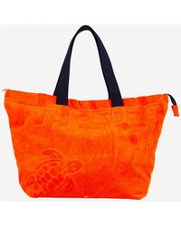 Vilebrequin Large Barney Terry Cloth Beach Bag - Orange