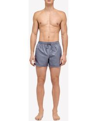 Sundek Elastic Waist Swim Trunks Xs - Grey