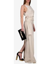 Tom Ford Knot Detail Gown With Back Slit - Natural