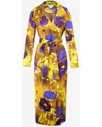 Dries Van Noten - Rolana 2089 Double Breasted Coat With Floral Prints Fr 34 - Lyst