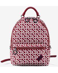 Dolce & Gabbana Dg Logo Mania Backpack In Calfskin - Red