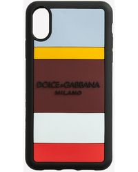 Dolce & Gabbana Rubber Multicolored Iphone Xr Case With Logo - Multicolour